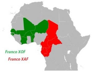 mappa africa FCA Franco africa centrale